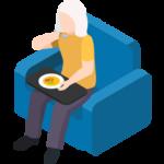 Comidas y Compras para ancianos